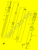 FRONT DAMPER (RF900RR/ RS)  RF900RS(E2) S 1995 Motorcycle Suzuki microfiche diagram