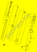 FRONT DAMPER (RF900RS2/ RT/ RV/ RW)  RF900RS(E2) S 1995 Motorcycle Suzuki microfiche diagram