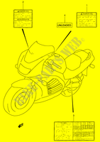LABEL (MODEL R/ S)  RF900RR(E2) R 1994 Motorcycle Suzuki microfiche diagram