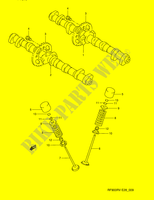 CAM SHAFT - VALVE  RF900RZS(E28) S 1995 Motorcycle Suzuki microfiche diagram