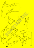 COWLING BODY (RF900RR/ RS)  RF900RT(E2) T 1996 Motorcycle Suzuki microfiche diagram