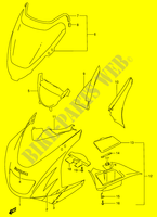 COWLING BODY (RF900RT/ RV)  RF900RR(E2) R 1994 Motorcycle Suzuki microfiche diagram