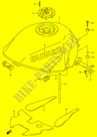 FUEL TANK (MODEL T)  RF900RR(E2) R 1994 Motorcycle Suzuki microfiche diagram