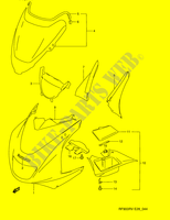 COWLING BODY (MODEL R)  RF900RZS(E28) S 1995 Motorcycle Suzuki microfiche diagram