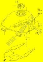 FUEL TANK (MODEL W)  RF900RR(E2) R 1994 Motorcycle Suzuki microfiche diagram