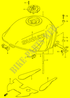 FUEL TANK (MODEL V)  RF900RR(E2) R 1994 Motorcycle Suzuki microfiche diagram