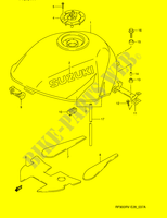 FUEL TANK (MODEL T)  RF900RZS(E28) S 1995 Motorcycle Suzuki microfiche diagram