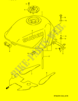 FUEL TANK (MODEL V)  RF900RZS(E28) S 1995 Motorcycle Suzuki microfiche diagram