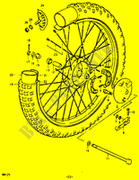 FRONT WHEEL for Suzuki RM 125 1979