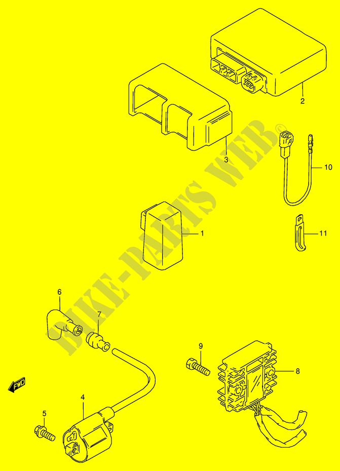 Suzuki Moto 125 Rg 1992 Rg125fne18 Electrical: Suzuki Rg 125 Wiring Diagram At Mazhai.net