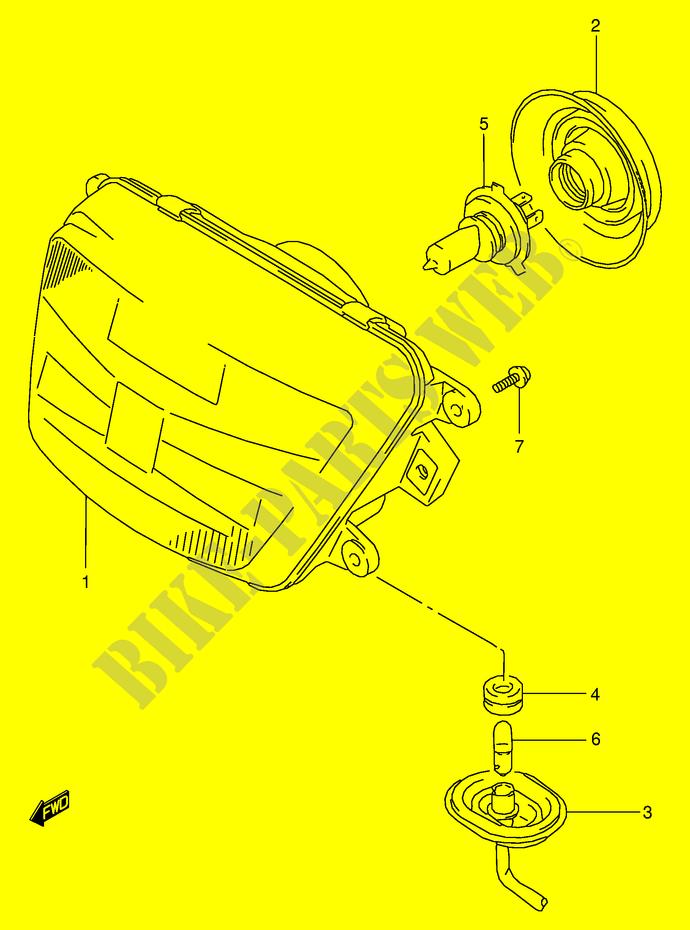Suzuki Moto 125 Rg 1994 Rg125fre18 Electrical Headlight: Suzuki Rg 125 Wiring Diagram At Mazhai.net