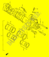 FRONT CALIPERS  RF900RR(E2) R 1994 Motorcycle Suzuki microfiche diagram