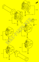 HANDLE SWITCH  RF900RR(E2) R 1994 Motorcycle Suzuki microfiche diagram
