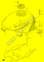 FUEL TANK (MODEL R/ S)  RF900RR(E2) R 1994 Motorcycle Suzuki microfiche diagram