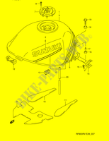 FUEL TANK (MODEL R/ S)  RF900RZS(E28) S 1995 Motorcycle Suzuki microfiche diagram