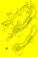 FRAME COVER (MODEL T/ V)  RF900RR(E2) R 1994 Motorcycle Suzuki microfiche diagram