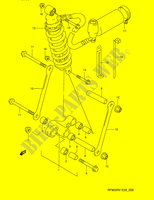 REAR CUSHION LEVER  RF900RZS(E28) S 1995 Motorcycle Suzuki microfiche diagram
