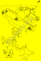 TAIL LAMP  RF900RR(E2) R 1994 Motorcycle Suzuki microfiche diagram