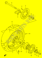 REAR WHEEL (MODEL R/ S)  RF900RR(E2) R 1994 Motorcycle Suzuki microfiche diagram