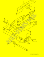 REAR SWINGING ARM (MODEL T/ V)  RF900RZS(E28) S 1995 Motorcycle Suzuki microfiche diagram