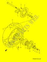 REAR WHEEL (MODEL R/ S)  RF900RZS(E28) S 1995 Motorcycle Suzuki microfiche diagram
