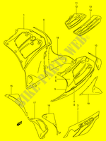 UNDER COWLING (MODEL W)  RF900RR(E2) R 1994 Motorcycle Suzuki microfiche diagram