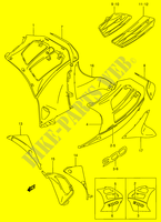 UNDER COWLING (RF900RR/ RS)  RF900RR(E2) R 1994 Motorcycle Suzuki microfiche diagram