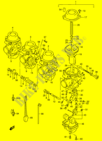 CARBURETOR (MODEL R/ S)  RF900RR(E2) R 1994 Motorcycle Suzuki microfiche diagram