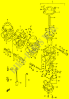 CARBURETOR (MODEL T/ V/ W)  RF900RR(E2) R 1994 Motorcycle Suzuki microfiche diagram