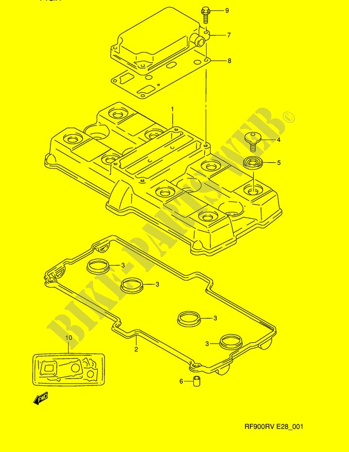 CYLINDER HEAD COVER ENGINE TRANSMISSION RF900RR E28 1994 RF 900 MOTO