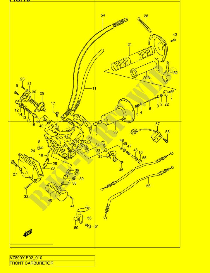 Front Carburetor Engine Transmission Vz800k3 E2 2003 Marauder 800