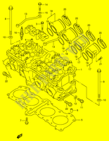 CYLINDER HEAD (MODEL R/ S)  RF900RR(E2) R 1994 Motorcycle Suzuki microfiche diagram