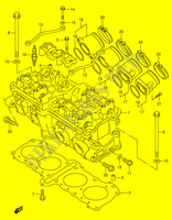 CYLINDER HEAD (MODEL T/ V/ W)  RF900RR(E2) R 1994 Motorcycle Suzuki microfiche diagram