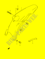 REAR FENDER (MODEL K1)  RM250K1(E2) K1 2001 Motorcycle Suzuki microfiche diagram