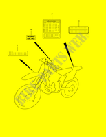LABEL  RM250K1(E2) K1 2001 Motorcycle Suzuki microfiche diagram