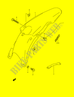 REAR FENDER (MODEL K2)  RM250K1(E2) K1 2001 Motorcycle Suzuki microfiche diagram