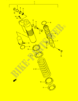 REAR SHOCK ABSORBER  RM250K1(E2) K1 2001 Motorcycle Suzuki microfiche diagram