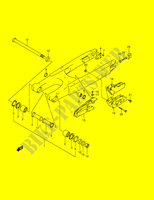 REAR SWINGINGARM  RM250K1(E2) K1 2001 Motorcycle Suzuki microfiche diagram