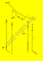 HANDLEBAR - CABLES SUSPENSION/BRAKES/WHEELS 80 suzuki-motorcycle RM 1989 DP024818