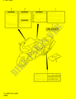 LABEL (MODEL K2) for Suzuki TL-R 1000 1999