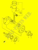 CRANKSHAFT  RM250K1(E2) K1 2001 Motorcycle Suzuki microfiche diagram