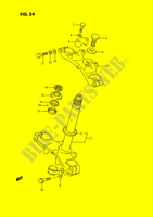 STEERING COLUMN (MODEL G/H/J) SUSPENSION/BRAKES/WHEELS 80 suzuki-motorcycle RM 1989 DP025613