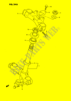 STEERING COLUMN (MODEL L/M/N/P/R/S) SUSPENSION/BRAKES/WHEELS 80 suzuki-motorcycle RM 1989 DP025867