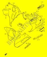 UNDER COWLING (MODEL X) for Suzuki TL-R 1000 1999