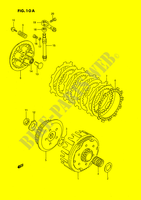 CLUTCH (MODEL K/L/M/N/P/R/S) ENGINE/TRANSMISSION 80 suzuki-motorcycle RM 1989 DP026890