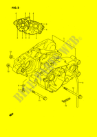 CRANKCASE (MODEL G/H/J) ENGINE/TRANSMISSION 80 suzuki-motorcycle RM 1989 DP026903