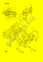 CRANKCASE (MODEL K) ENGINE/TRANSMISSION 80 suzuki-motorcycle RM 1989 DP026922