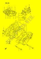 CRANKCASE (MODEL L/M/N/P/R/S) ENGINE/TRANSMISSION 80 suzuki-motorcycle RM 1989 DP026904