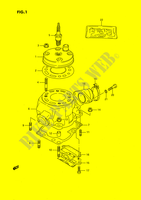 CYLINDER (MODEL G/H/J) ENGINE/TRANSMISSION 80 suzuki-motorcycle RM 1989 DP026666