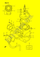 CYLINDER (MODEL M/N/P/R/S) ENGINE/TRANSMISSION 80 suzuki-motorcycle RM 1989 DP026886